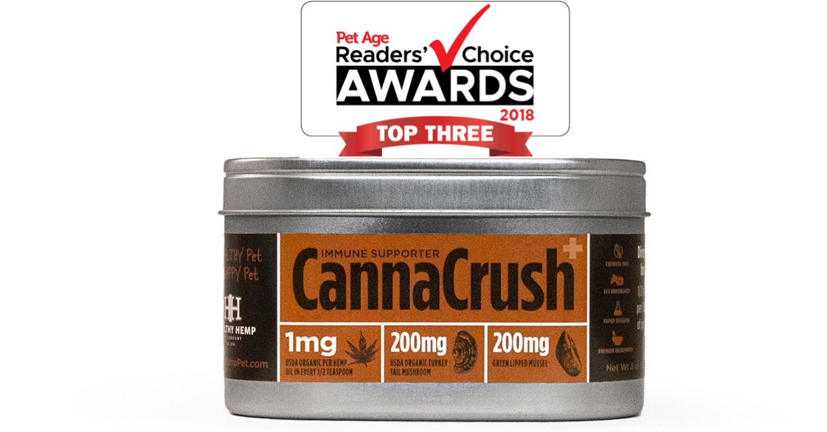 Healthy Hemp Pet wins Pet Age Reader's Choice Award